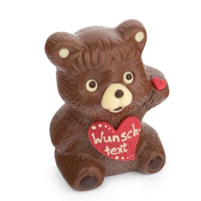Schoko-Teddy mit Wunschtext Bengelmann