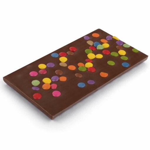 Schokoladentafel Vollmilch mit Schokolinsen