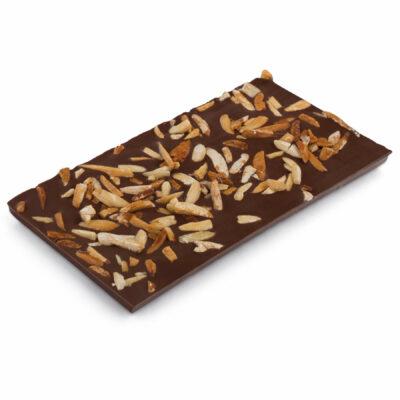 Vollmilch Schokoladentafel mit Mandelsplittern