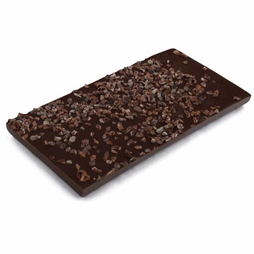 Zartbitter Schokoladentafel mit Kakaonibs