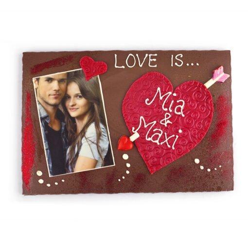 Bengelmann XXL Schokolade mit Foto und Herz